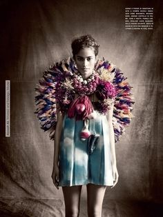 ❀ Flower Maiden Fantasy ❀ beautiful art fashion photography of women and flowers - Alyssah Ali by Paolo Roversi for Vogue Italia January 2013 Fashion Shoot, Fashion Art, Editorial Fashion, Ethnic Fashion, Paolo Roversi, High Fashion Photography, Robert Mapplethorpe, Textiles, Img Models