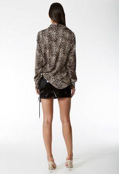 One Side Lace-up Vinyl Black Mini Skirt – Lupsona