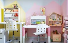 Shop our range of IKEA kids' desks to give your child a surface to draw, play, study and much more. Study Nook, Kids Study, Ikea Kids Room, Kids Bedroom, Cheap Furniture, Furniture Making, Ikea Portugal, Kid Desk, Shared Kids Rooms