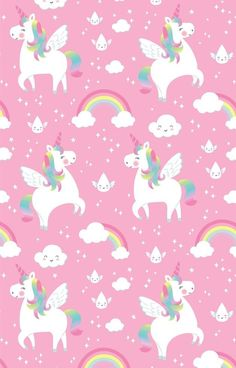 Rainbow Unicorn Wrapping Paper available to buy direct from Sass & Belle, for the little things in life. Iphone Wallpaper Unicorn, Wallpaper Kawaii, Unicornios Wallpaper, Cute Pastel Wallpaper, Rainbow Wallpaper, Wallpaper Iphone Cute, Cartoon Wallpaper, Pattern Wallpaper, Cute Wallpapers