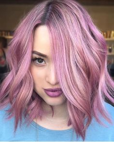 Beautiful Pink with brown root hair. Hair! Hair! Hair!