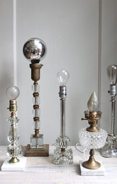 Regency Lamps, like for display idea, a collection of lamps