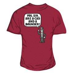 Bounder Women's Fitted Tee Antique Cherry Red.