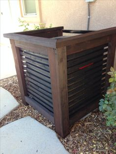 Air-conditioner unit cover. Don't forget to leave at least 5 feet of space for your HVAC tech to be able to access!!