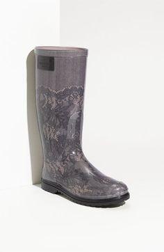 Valentino Lace Print Rain Boot (Women) Wishing these werent 300 dollars.