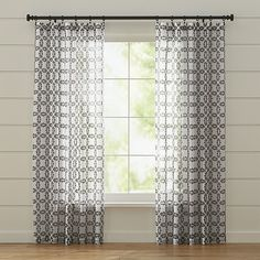 casual yet elegant curtain panel is exclusive to crate and barrel