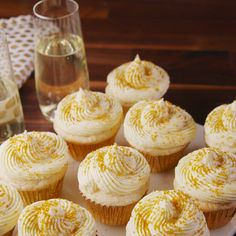 A must make for New Year's Eve. #food #cupcakes #desserts #nye #newyears #sweets