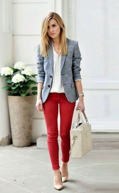 Red And Grays | #CorporateFashion #BusinessCasuals #Fashion #Trends