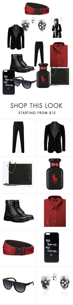 """""""Dinner Date With Ronnie Radke #2"""" by theperfectstorm ❤ liked on Polyvore featuring Dolce&Gabbana, BOSS Black, Maison Margiela, Ralph Lauren, MCM, Carrera, Bling Jewelry, men's fashion and menswear"""