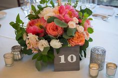 Pink and dark green flowers