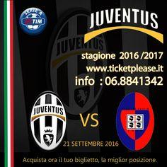 Campionato Serie A 2016-2017 JUVENTUS vs CAGLIARI 21 settembre TIENI IN ALTO LA TUA BANDIERA Tutte le partite disponibili info line: 068841342 www.ticketplease.it mail: info@ticketplease.it La nostra sede: via Viterbo n.6, Roma. Spediamo in tutta Italia con Bartolini. #juve #juventus @juventusfcen @juventusfces @juventusfcid @juventusfcjp @juventusfc #SerieA #SerieATIM #JuveCagliari #Cagliari