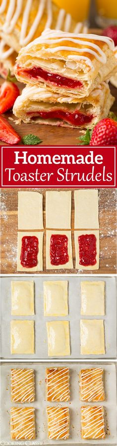 Homemade Toaster Strudels - A copycat version of the store bought kind. Love the flaky layers and sweet drizzle of icing!