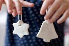 Ihanaa valkoista taikinaa / Homemade Modelling Dough for Christmas Ornaments Christmas Decorations For Kids, Christmas Ornaments To Make, Homemade Christmas, Christmas Projects, Holiday Crafts, Holiday Fun, Diy Ornaments, Dough Ornaments, Homemade Ornaments