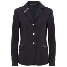 Kingsland Sloane Show Jacket ($555) ❤ liked on Polyvore featuring outerwear, jackets, sports jacket, lightweight jackets, sport jacket, equestrian jacket and light weight jacket