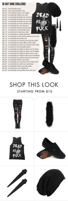 """""""day 19: hospital for souls by bring me the horizon"""" by bands-are-my-savior ❤ liked on Polyvore featuring BLANKNYC, Vans, AllSaints, women's clothing, women, female, woman, misses and juniors"""