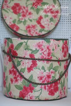 $85 Fabulous Vintage HUMONGOUS Storage or Hatbox*Original Fabric