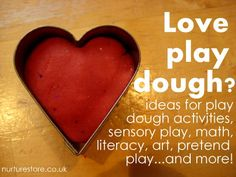 Love play dough? Over 100 play dough activities including great ideas for sensory play, math, literacy, art, pretend play and plenty more.