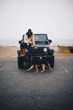 german shepherd. jeep. jeep love.