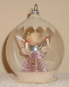 Christmas Fairy, Christmas Past, Vintage Christmas Ornaments, Pink Christmas, Christmas Items, Winter Christmas, Christmas Tree Decorations, Handmade Christmas, Christmas Tree Ornaments