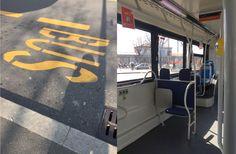 Myöhemmin yliopistolle mennessä bussikin on ihanan tyhjä. Yleensä ollaan kuin sillit suolassa!