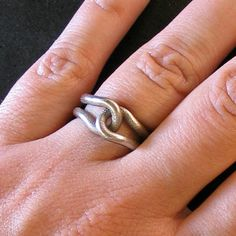 Steel Rubber Band Ring  by Erica Schwartz  $21