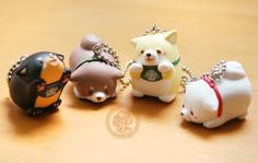 Porte-clef kawaii Mochi Shiba inu trop mignon !! - gashapon kawaii de www.chezfee.com