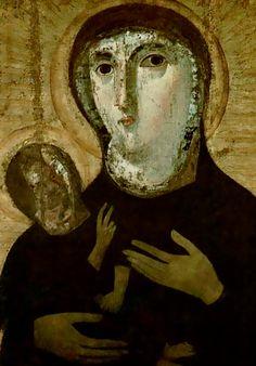 .;. Madonna Glycophilousa, Santa Francesca Romana, Rome, Italy, early 5th century