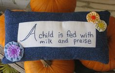 A Child is fed with Milk and Praise  Hand by LaughRabbitJr on Etsy, $19.00