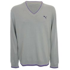 Amazon.com  Puma Golf Men s Long Sleeve V-Neck Cotton Sweater - Brand NEW   Clothing 73f8f5701dd