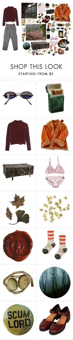 """Melancholia"" by british-junkie ❤ liked on Polyvore featuring Fendi, Leica, Yves Salomon, Rune NYC, H&M, MANGO, Fountain, Disney and Topshop"