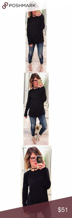 ➡COS Black Long Sleeve Top⬅ This is a gorgeous long sleeve blouse with a ribbed crew neck that is beautiful for work and dressed up.  💕Offers welcome. Take 30% off your entire purchase automatically at checkout when you use the bundle feature, or make an offer for your bundle. Happy Poshing!💕 COS Tops