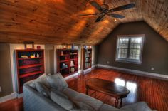 Stained pine trim beautiful homes pinterest pine Bedroom above garage