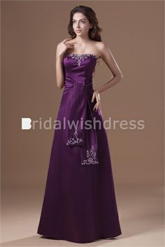 Military Ball Floor-Length Satin Strapless Special Occasion Dresses