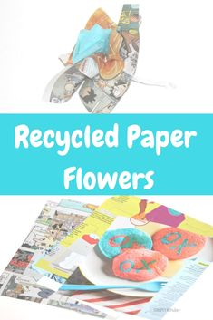Recycled Paper Flowe