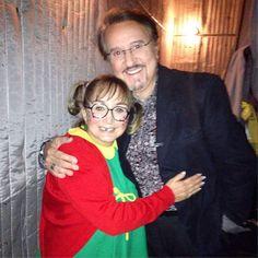 Encuentro entre Carlos Villagrán y Antonieta de las Nieves,