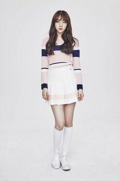 """Minkyung (민경)"" is a South Korean singer and member of girl group Prestin under Pledis Entertainment. Kim Min Kyung, Pledis Girlz, Asian Doll, Korean Girl, Korean Wave, Asian Woman, Pretty People, Korean Fashion, Mini Skirts"