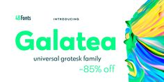 About this font family Galatea is a universal sans serif family – clean and timeless. Both iconic and legible, Galatea is suited to cover many needs from Font Family, Type Design, Serif, Editorial Design, Fonts, Desktop, Designer Fonts, Types Of Font Styles, Print Design