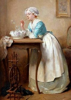 View Les bulles de savon by Charles Joshua Chaplin on artnet. Browse upcoming and past auction lots by Charles Joshua Chaplin. Classic Paintings, Old Paintings, Beautiful Paintings, Soap Bubbles, Bubbles 3, Blowing Bubbles, Bubble Art, Victorian Art, Classical Art