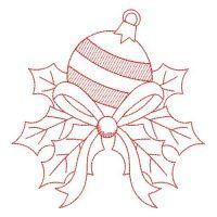 Embroidery Pattern of Redwork Christmas by Designer Wind Bell Embroidery on Oregonpatchworks.com. jwt