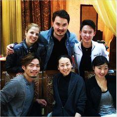 With Carolina Kostner(Otaly),Denis Ten(Kazakhstan),Mao Asada(JAPAN) and Mirai Nagasu(USA) : Denis Ten and Frisnds 2014