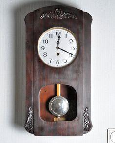 Wall Clock with carved flowers ,pendulum clock ,  Soviet clock ,Working Clock,Russian clock ,Mechanical clock , Vintage Clock                                                                                                                                                                                 More