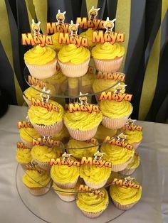Maya the bee Birthday party cupcakes