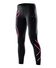 Look what I found on #zulily! Black & Tangerine Compression Leggings by 2XU #zulilyfinds