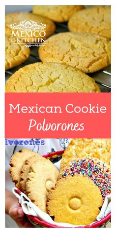 Mexican Pastries, Mexican Sweet Breads, Mexican Dessert Recipes, Mexican Dishes, Mexican Polvorones Recipe, Authentic Mexican Desserts, Mexican Cookies, Tea Cookies, Cookie Recipes