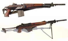 Beretta BM59 MkIII 'Truppe Alpine' rifle  Manufactured by Fabbrica d'Armi Pietro Beretta in Briesca, Italy for the Italian army between 1959 and 1990. 7,65x51 NATO 20-round removable box magazine, gas operated select fire, folding stock and bipod, flash suppressor/rifle grenade launcher.