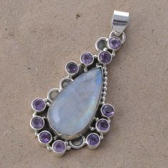 #Awesome 925 #Sterling #Silver #Handmaded #Moonstone,  #Amethyst #Gemstone #Pendat #for #Women & #Man #jewelry #We #deals #in all #types of #jewelry #Tribal, #Fashion #Jewelry #Fine #Jewelry #Handcrafted #Artisan #Jewelry #Jewelry #Design & #Repair #Men's #Jewelry #Vintage & like #Children's Jewelry #Engagement & #Wedding #Ethnic, #Regional & #Antique #Jewelry #Wholesale Lots so #please ask #us if you have any #enquiry