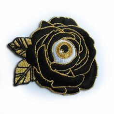 Some Seriously Fierce Flair: Pins Prints & di CultFictionPress Cool Patches, Pin And Patches, Iron On Patches, Jacket Patches, Punk Patches, Eye Patches, Embroidery Patches, Hand Embroidery, Cute Pins