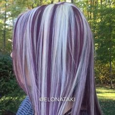 Coexisting ❤️ used fuchsia pink & Violet colors by Ugly Duckling Los Angeles. Pretty Hair Color, Beautiful Hair Color, Hair Color Purple, Hair Dye Colors, Hair Color And Cut, Purple Highlights Blonde Hair, Dark Hair, Hair Looks, Short Hair Styles