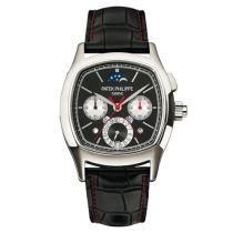 Patek Philippe Perpetual Calendar Split-Seconds Chronograph 5951P Negro / Plata Reloj 5951P-001