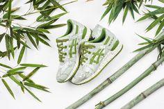 Asics Gel-Lyte III 'Japanese Textile Bamboo' - Cedar Green/Cedar Green from Sneaker Politics